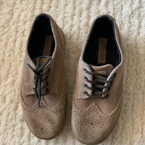 ZARA BOYS leather suede shoes size 31